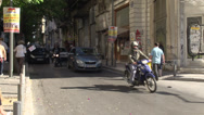 Stock Video Footage of Athens lots of traffic on narrow street