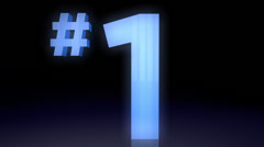 Number 1, one - stock footage