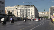 Stock Video Footage of Athens, traffic on busy wide street