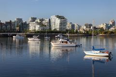 Boats and Condos, South Shore, False Creek Stock Photos