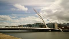 Samuel Beckett bridge time lapse, Dublin Ireland. Stock Footage