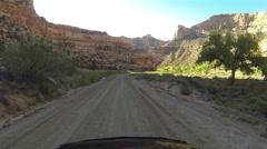 Buckhorn Wash San Rafael Utah drive POV HD 0055 Stock Footage
