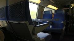 Empty seats on French train Stock Footage