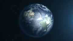 Beautiful Earth rotation 360 - stock footage