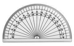 Close-up of a protractor - stock photo