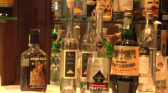 Liquor bottles Stock Footage