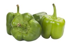 Close-up of capsicums Stock Photos