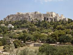 acropolis from the athens agora - stock photo
