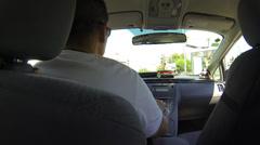 Taxi to La Sagrada Familia Stock Footage