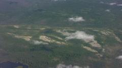 Aerials of Yukon river 1 Stock Footage