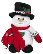 Stuffed snowman toy - stock photo