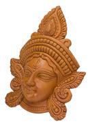 Close-up of a figurine of Goddess Durga Stock Photos