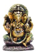 Close-up of a figurine of Lord Ganesha - stock photo