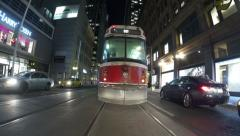 Toronto Streetcar Follow Timelapse Stock Footage