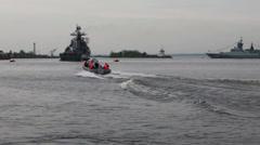 Marine patrol Stock Footage
