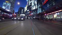 Toronto Night Driving 1 Stock Footage