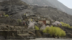 Mountain village in the Himalayas 7 Stock Footage