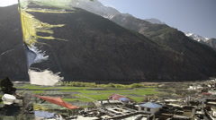 Mountain village in the Himalayas 9 Stock Footage