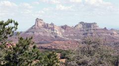 Sandstone butte mountain San Rafael Swell southern Utah desert HD 9918 Stock Footage