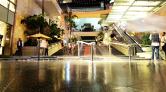 Hollywood Night Time Lapse -Mall Stairs- Tilt Up - stock footage