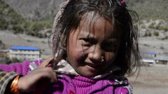 Himalayan girl Stock Footage