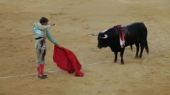 The final stage of bullfighting in Spain Stock Footage