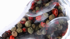 Dry pepper inside glass Stock Footage