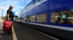 Train station in Agde, South of France 4 Stock Footage