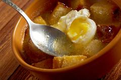sopa de ajo - stock photo