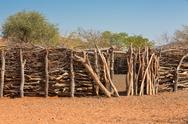Stock Photo of Traditional huts of himba people