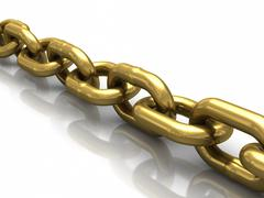 gold chain - stock illustration
