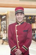 Portrait of Bellhop - stock photo