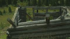 Old west ghost town building 1 Stock Footage