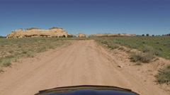 Drive San Rafael Swell desert Utah POV HD 0063 Stock Footage