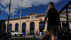 Train station in Agde, South of France 2 Stock Footage