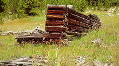 Old west ghost town building 5 Stock Footage