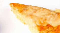Food : cheese casserole piece Stock Footage