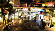 Stock Video Footage of Hollywood Night Time Lapse -Shopping Mall-