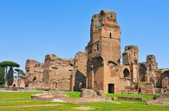 Baths of caracalla in rome, italy Stock Photos