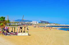 La nova mar bella beach, in barcelona, spain Stock Photos