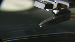 Record player needle close Stock Footage