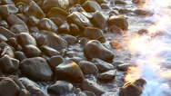 Stock Video Footage of stones surf HD
