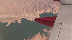 Flying over Lake Mead Stock Footage