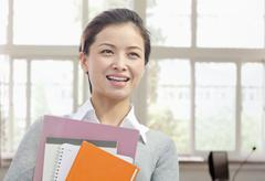Portrait of Librarian, China Stock Photos