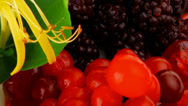 Stock Video Footage of blackberry cherry and cranberry