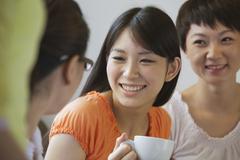 Three Friends istuu ja puhu kahvila, Peking Kuvituskuvat