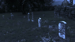 Old Western Cemetery III Stock Footage