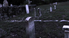 Stock Video Footage of Old Western Cemetery Zoom I