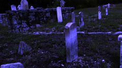 Old Western Cemetery Zoom II Stock Footage