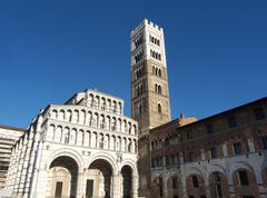 lucca cathedral of st martin - stock photo